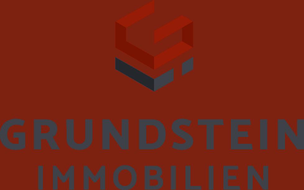 Logo Grundstein Immobilien rot - Schwarz