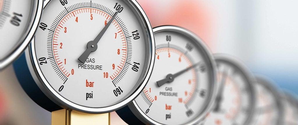 Gasdruckanzeigen Instrument